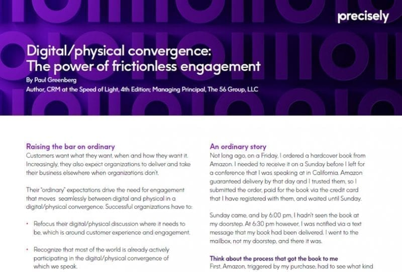 Digital/Physical Convergence: The Power of Frictionless Engagement