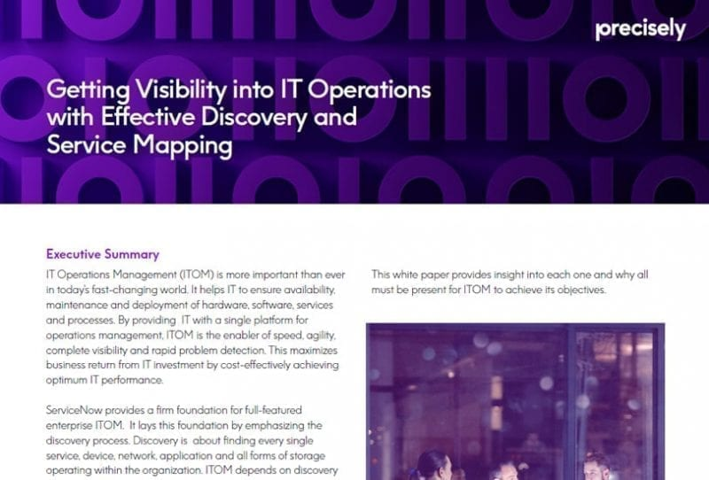 ebook: Getting Visibility into IT Operations with Effective Discovery and Service Mapping
