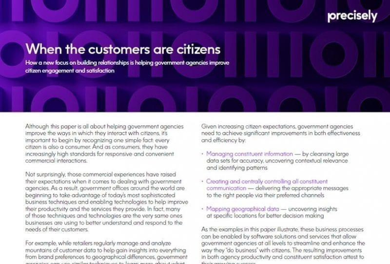 improve citizen engagement and satisfaction