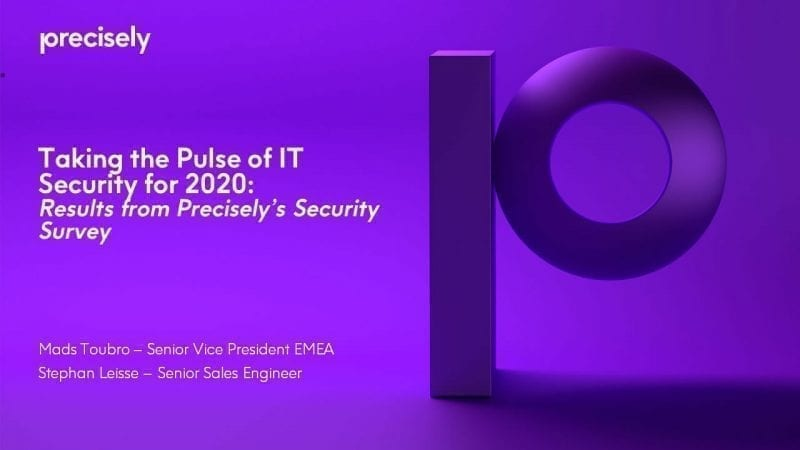Taking the pulse of IT security for 2020