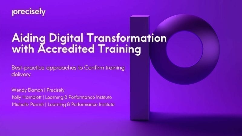 Aiding digital transformation with accredited training webcast