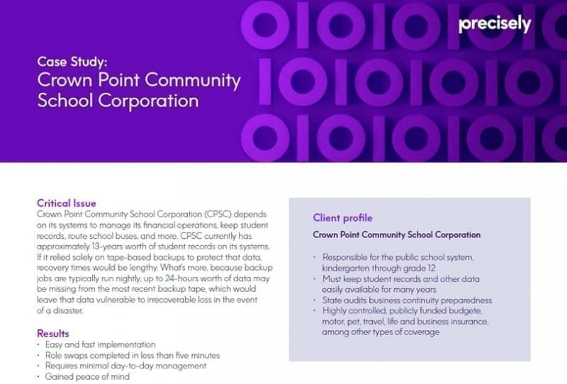 Crown Point Community School Corporation Case Study