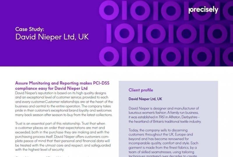 David Nieper Ltd. UK Case Study
