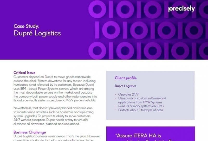 Dupre Logistics Case Study