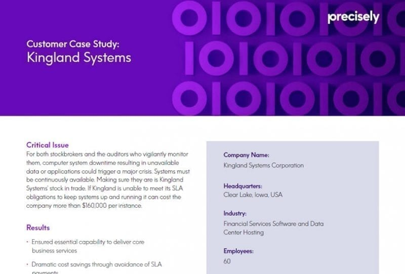 Kingland Systems Case Study