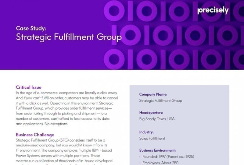 Strategic Fulfillment Group - Assure MIMX HA Customer Story