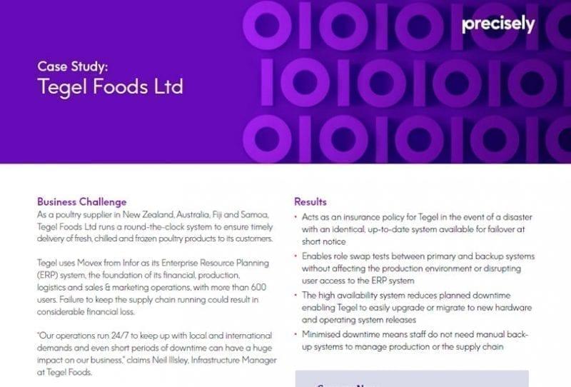 Tegel Foods Ltd Assure iTERA HA Case Study