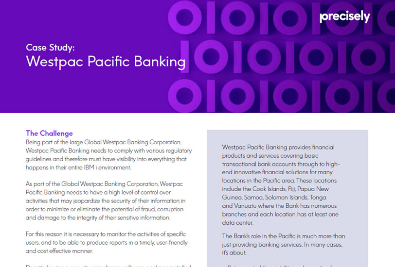 Westpac Pacific Banking - Assure Monitoring and Reporting Case Study