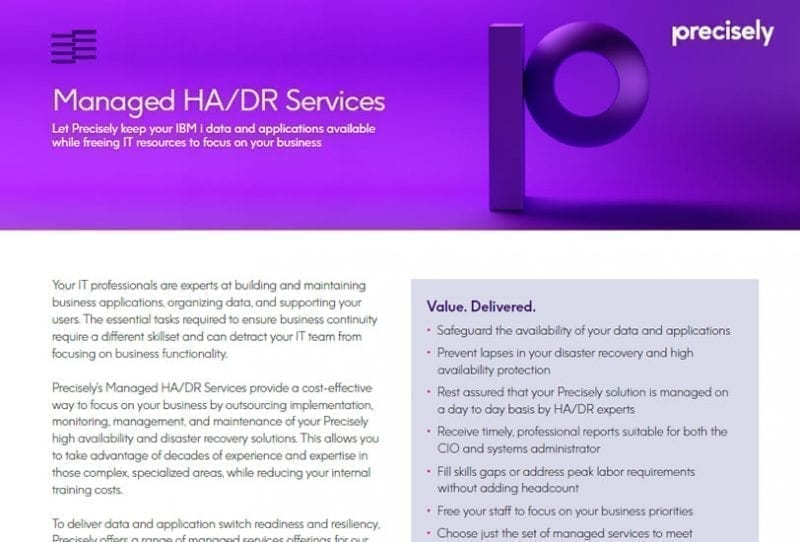 Managed HA/DR Services