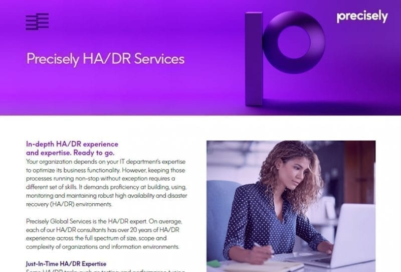 Precisely HA DR Services