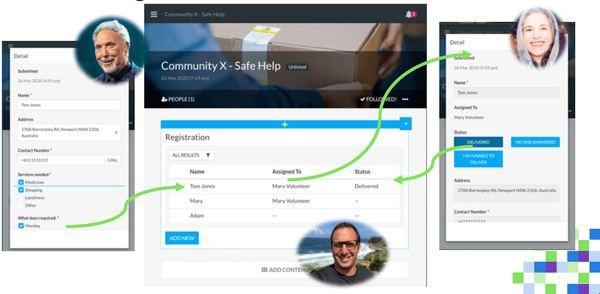 Community X Safe Help website