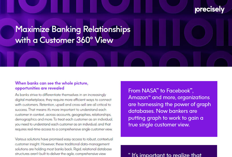 Maximize Banking Relationship with a Customer 360 View
