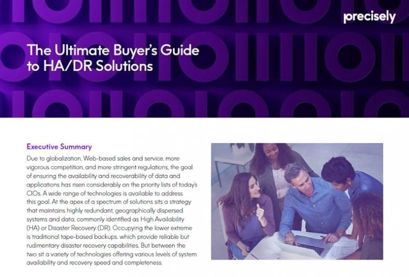 The Ultimate Buyers Guide to HA and DR Solutions