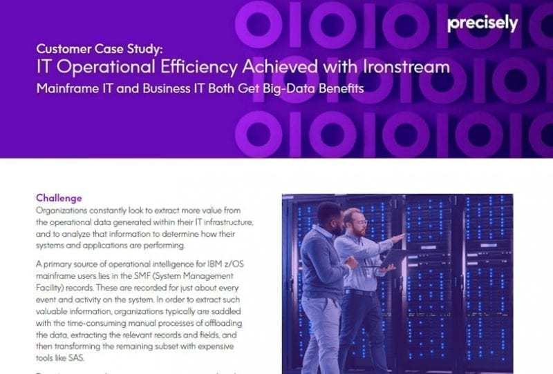 IT Operational Efficiency Achieved with Ironstream