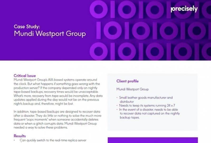 Mundi Westport Group - Assure MIMIX