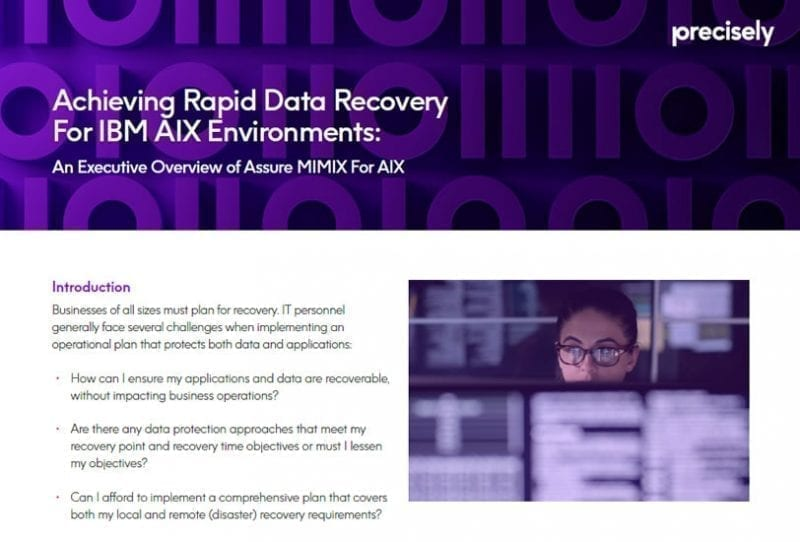 Achieving Rapid Recovery for IBM AIX Environments