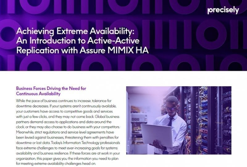 Achieving Extreme Availability