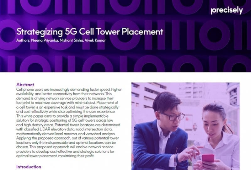 Data 5G Cell Tower Placement