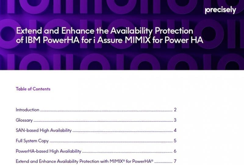 Extend and Enhance the Availability Protection of IBM PowerHA for IBM i