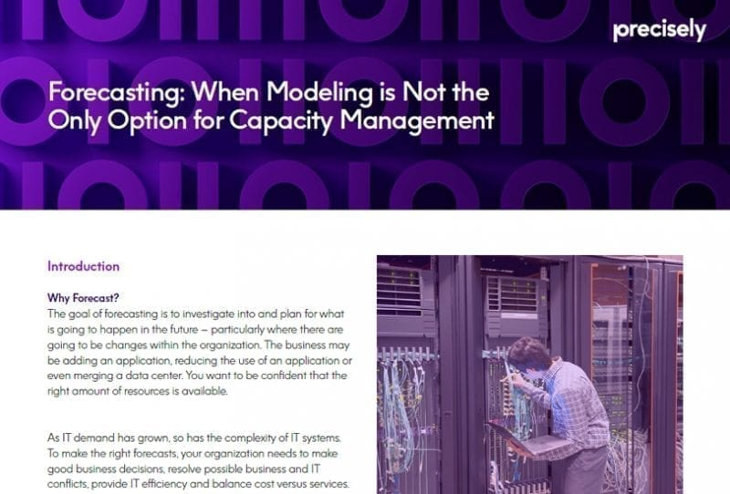 Forecasting: When Modeling is Not the Only Option for Capacity Management