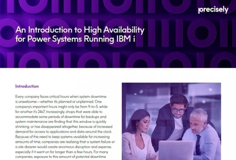 Introduction to High Availability for IBM Power Systems