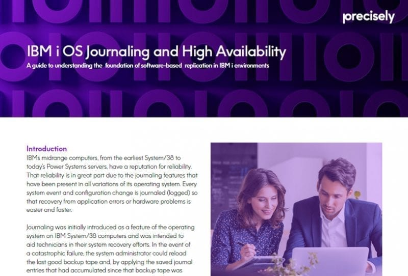 Journaling and High Availability