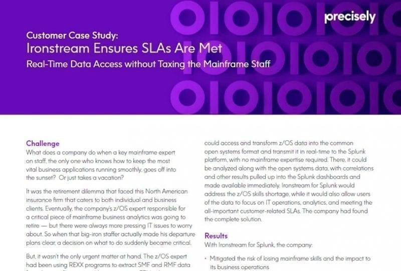 Ironstream Ensures SLAs Are Met