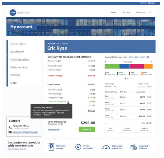 EngageOne Digital Self Service – Smart Bill