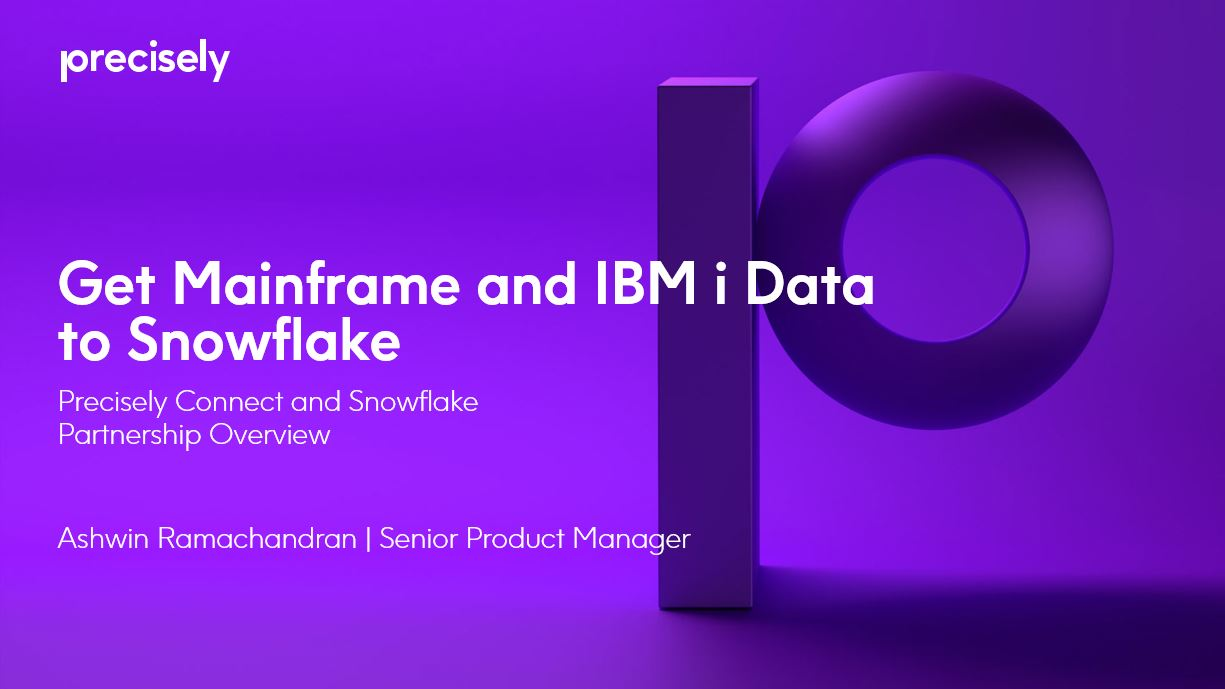 Get Mainframe and IBM i Data to Snowflake