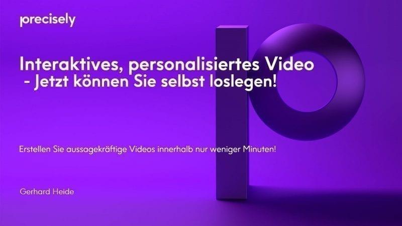 Interaktives, personalisiertes Video: Jetzt können sie selbst loslegen