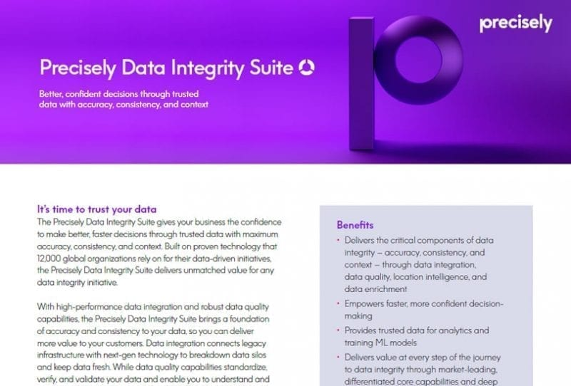 Precisely Data Integrity Suite