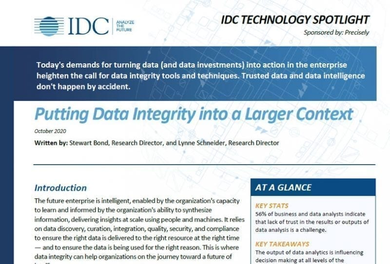 Putting Data Integrity into a Larger Context