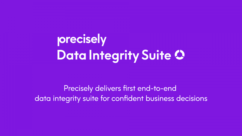 Precisely Data Integrity Suite - the first end-to-end data integrity suite for confident business decisions