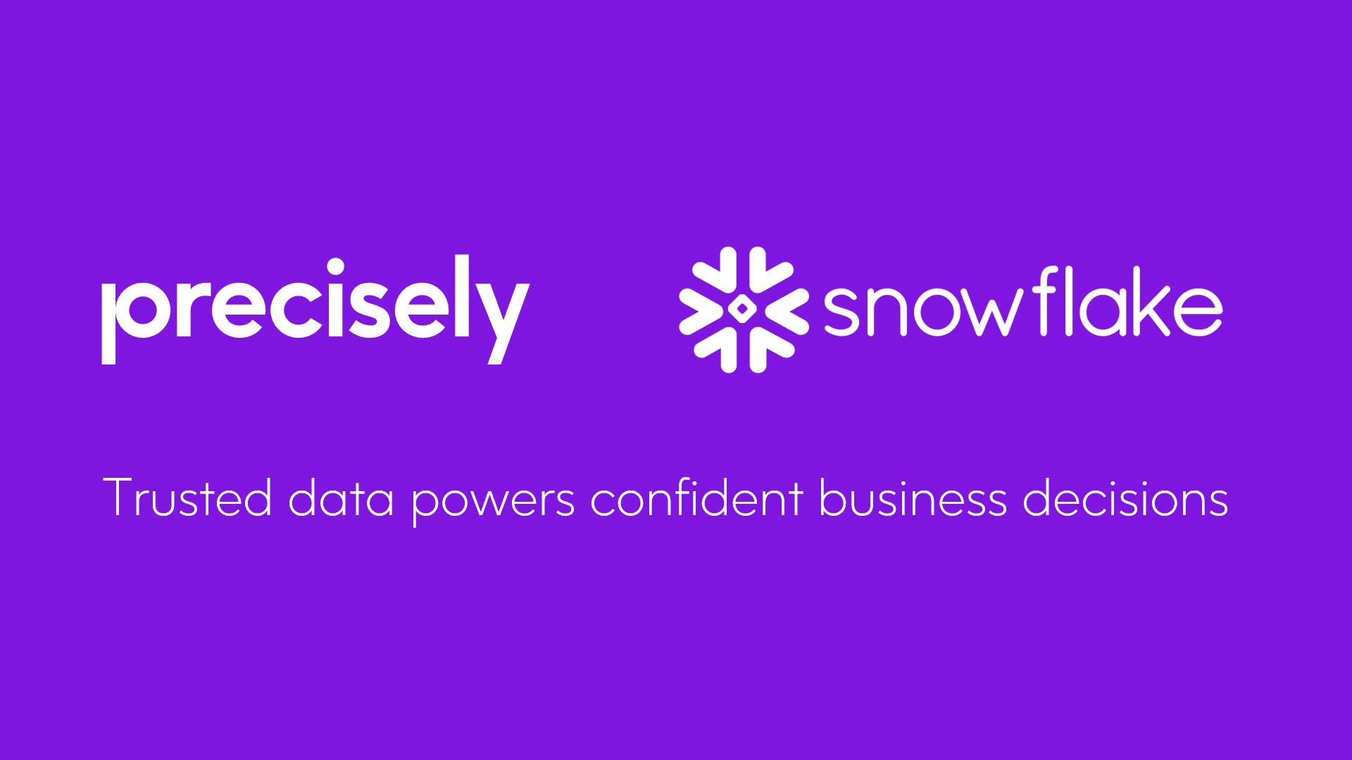 Precisely Announces Datasets Available Through Snowflake Data Marketplace