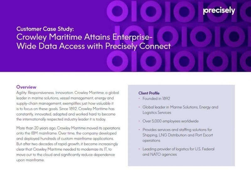 Crowley Maritime Customer Case Study