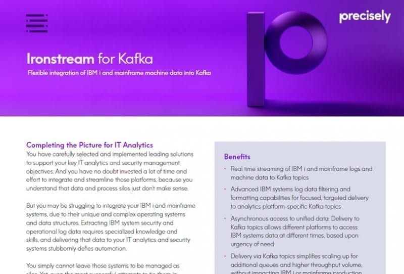 Ironstream for Kafka Solution Sheet