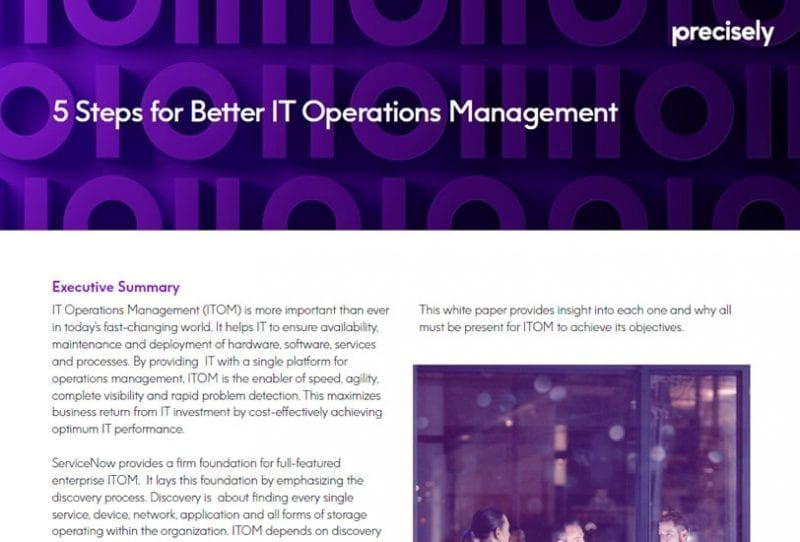 5 Steps for Better IT Operations Management