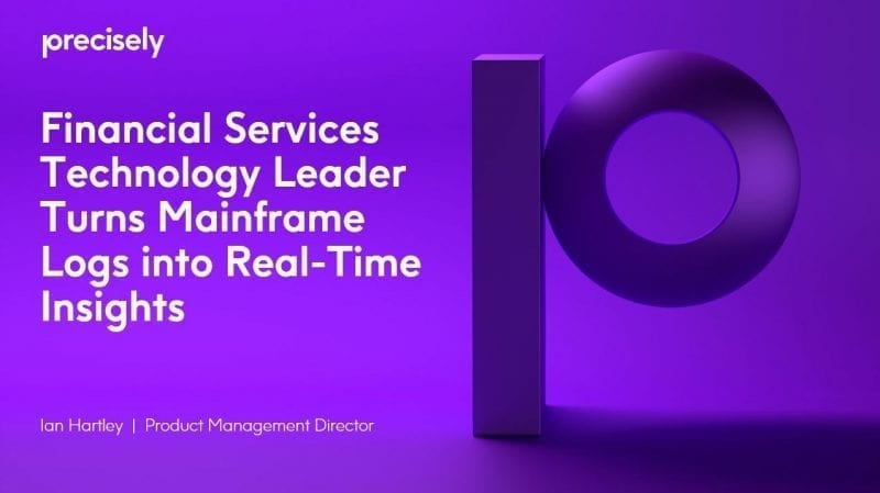 Financial Services Technology Leader Turns Mainframe Logs into Real-Time Insights