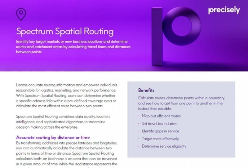Spectrum Spatial Routing Solution Sheet