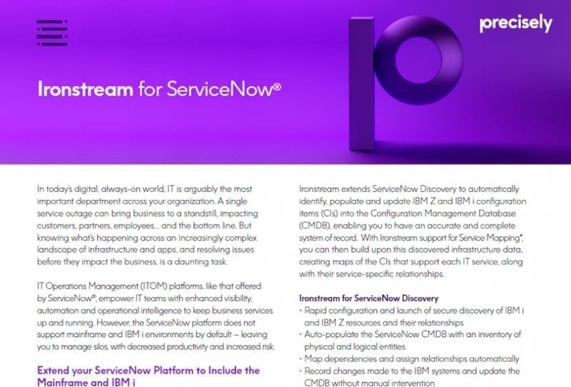 Ironstream for ServiceNow