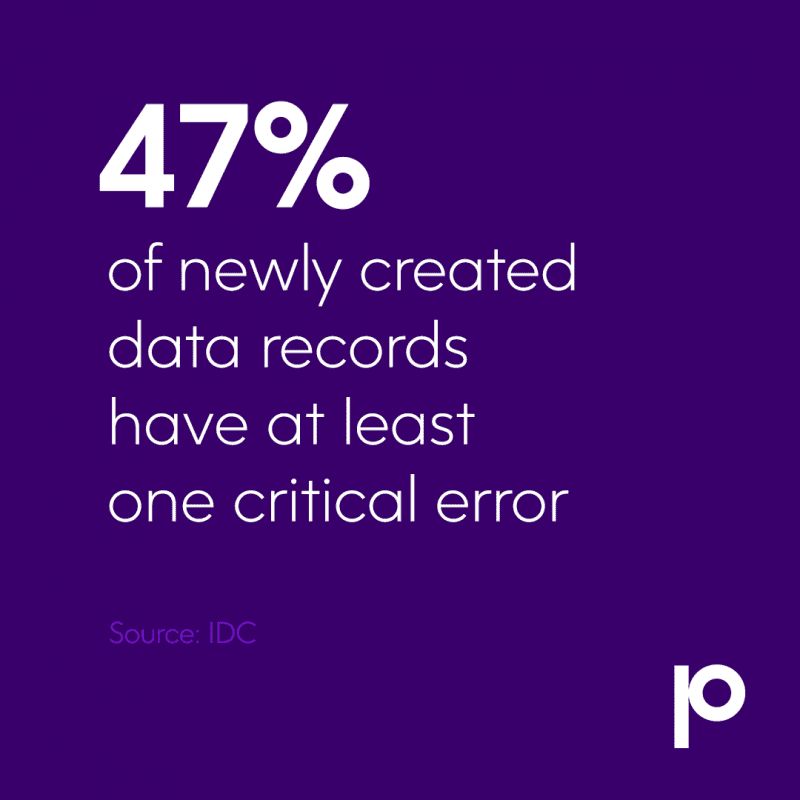 47% of newly created data records have at least one critical error (Source: IDC)