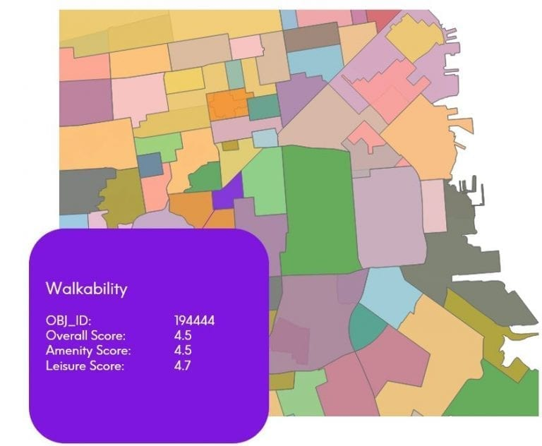 Walkability: Measure Accessible Points of Interest in a Specific Area