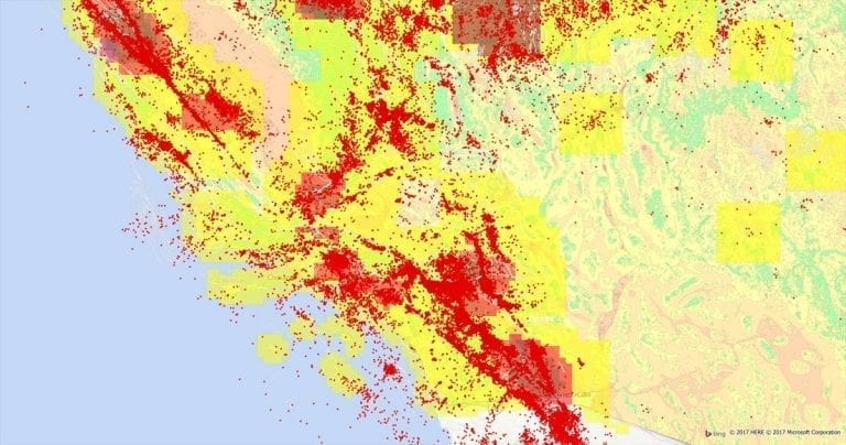 Earth Risk from Precisely - U.S. earthquake risk map, landslide risk & more