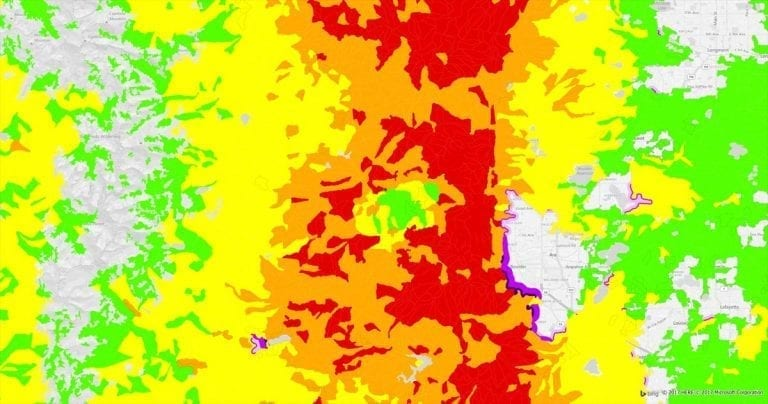 Wildfire Risk Map & Assessment Database - Physical & Climatic Modeling