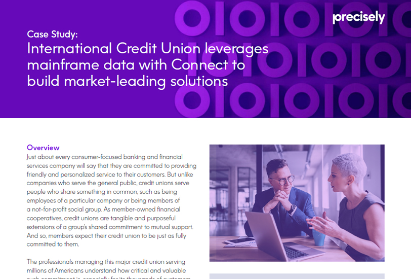 International Credit Union leverages mainframe data with Connect