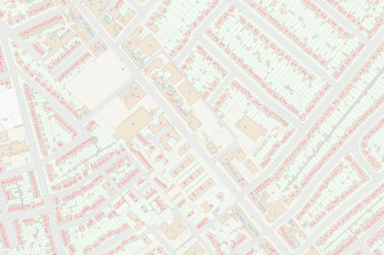 Precisely's Ordnance Survey AddressBase dataset helps you visualize UK addresses on the ordnance survey map and analyze UK property data