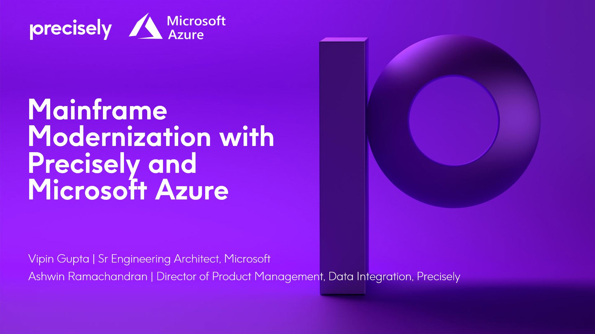 Mainframe Modernization with Precisely and Microsoft Azure