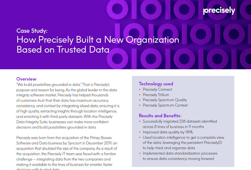 How Precisely Built a New Organization Based on Trusted Data