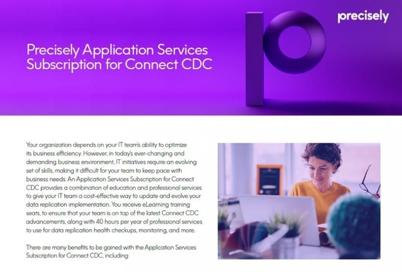 Precisely Application Services Subscription for Connect CDC