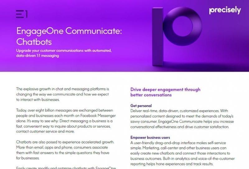 EngageOne Communicate Chatbots
